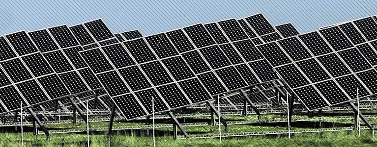 Solar Farm Sending Electricity to the Power Grid